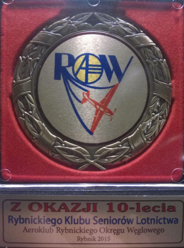 Pamiątkowy medal z okazji X-lecia Rybnickiego KSL